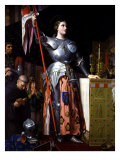 Saint Joan of Arc at Coronation of King Charles VII in Reims Cathedral Reproduction procédé giclée par Jean-Auguste-Dominique Ingres