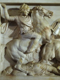 Alexander the Great, 356-323 BC, Battle between Greeks and Persians Photographic Print