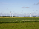 Wind Turbines in South Jutland, Denmark, Scandinavia, Europe Photographic Print by Yadid Levy