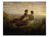 The Soul's Flight Giclee Print by Louis Janmot