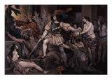 Hernan Cortes Opposing Human Sacrifice Giclee Print by Nicolas Eustache Maurin