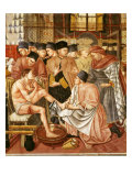 Doctor Giving Treatment to Sick Man with Cut on Leg, Fresco, by Domenico di Bartolo, 1443 Giclee Print