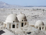 Ruined City of Jiaohe, Turpan on the Silk Route, Xinjiang Province Photographic Print by Christian Kober
