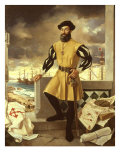 Ferdinand Magellan, Portuguese Navigator who Circumnavigated the Globe Giclee Print by Antonio Menendez