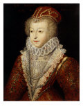 Margaret of Valois and France, also Queen Margot, 1553-1615, Sister of Henry III Giclee Print by  French School
