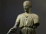 The Charioteer of Delphi, Bronze, c. 478 BC Archaic Greek Photographic Print
