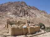St. Catherine's Monastery, with Shoulder of Mount Sinai Behind, Sinai Peninsula Desert, Egypt Photographic Print by Tony Waltham