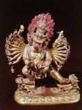 Heruka, Buddhist God, Emanation of the Buddha Aksobhya, Gilded Bronze, 18th century Photographic Print
