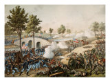 Battle of Antietam, also known as the Battle of Sharpsburg, 17 September 1862 Giclee Print