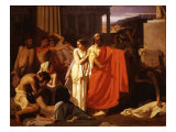 Oedipus, Blind after Plucking out his Eyes, with his Daughter Antigone Giclee Print by Ernest Hillemacher