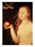 Eve, from Adam and Eve, 1528 Giclee Print by Lucas Cranach the Elder