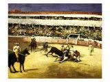 Combat de Taureaux, Bullfight, 1865-66 Giclee Print by Édouard Manet