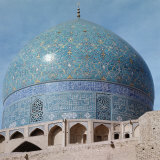 Outer Dome, with Enamelled Faience Tiling, Imam Mosque, 1611-1626, Isfahan, Iran Photographic Print