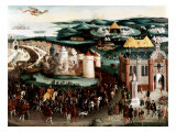 Meeting at the Field of the Cloth of Gold near Guines, France, 7 June 1520 Giclee Print by Friedrich Bouterwerk