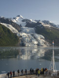 Passengers on Cruise Ship Viewing the Vasser Glacier, College Fjord, Inside Passage, Alaska Photographic Print by Richard Maschmeyer