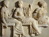 Poseidon, Apollo and Artemis, the Parthenon Frieze (East Side), c. 442-38 BC Classical Greek Photographic Print