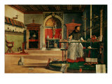 Saint Jerome (341-420) in his Study Giclee Print by Vittore Carpaccio