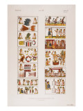 Aztec Scenes from Mexican manuscript known as the Florentine codex, c. 1570 Giclee Print
