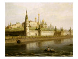 View of the Kremlin in Moscow, Russia, from the Kameny (Stone) Bridge, 1818 Giclee Print by Maksim Nikiforovic Vorobev