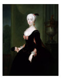 Queen Louisa Ulrika 1720-82 of Sweden, Prussian wife of King Adolf Frederick, 1743 Lámina giclée por Antoine Pesne