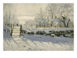 La Pie, The Magpie, 1868-9 Giclee Print by Claude Monet