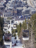 Cable Car Above Whistler Resort, Venue of the 2010 Winter Olympic Games, British Columbia, Canada Photographic Print by Christian Kober
