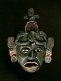 Mask in Jade and Shell Mosaic, Mayan Early Classical period 300-600 AD, Tikal, Guatemala Photographic Print