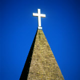 Church Steeple with Cross Photographic Print by Deon Reynolds