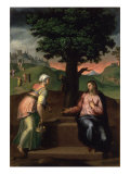 Christ and the Samaritan Woman Giclee Print by Marcello Venusti