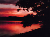 Sunset on the Lake Photographic Print by Rich LaPenna