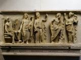 Jupiter, Pluto, Persephone, Neptune, Amphitrite, Marble Roman Imperial Era Relief (c.490-30 BC) Photographie