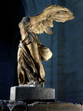 The Winged Victory or Nike of Samothrace, Marble, c. 190 BC Lámina fotográfica