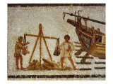 Weighing Iron Ore, Mosaic, 3rd century AD, Roman from Sousse, Tunisia Giclee Print