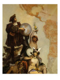 Christopher Columbus, 1451-1506 Italian Explorer, and the Discovery of America Giclee Print by Cesare Dell'acqua