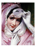 Woman with Mask, 1843 Giclee Print by Joseph Desire Court