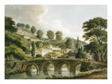 Bradford Old Bridge, Print Series, 1806 Giclee Print by John Claude Nattes