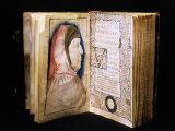 Frontispiece and Portrait of Petrarch, from 15th century Manuscript Sonnets by Petrarch Photographic Print
