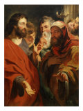 Jesus Instructing Nicodemus Giclee Print by Jacob Jordaens