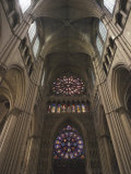 Western Facade and Vault of Nave, Interior of Notre Dame Cathedral, Reims, France Photographic Print