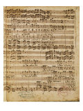 Autograph Score of the Magnificat for 5 Voices by Francesco Durante Giclee Print