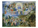 Last Judgement, Copy of Version by Fra Angelico (1387-1455) Giclee Print by Bartholomaeus Spranger