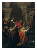 Pope Nicholas V, 1397-1455, Opening the Tomb of St Francis of Assisi Giclee Print by Jacques Blanchard
