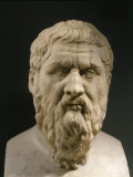 Plato, 428-348 BC, Greek philosopher, Marble Bust Photographie