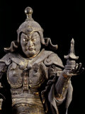 Bishamon-ten, King-guardian of the North, Lacquered Cypress Wood, early 13th century Photographic Print