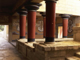 Guards' Verandah, Royal Apartments, Palace of Knossos, 2nd millennium BC Minoan, Crete Photographic Print