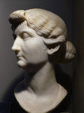 Livia Drusilla, 58 BC - 29 AD, Roman Empress, mother of Tiberius, Marble, 1st century AD Photographic Print