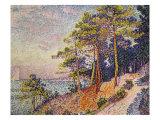 Saint -Tropez, le Sentier de Douane, 1905 Giclee Print by Paul Signac