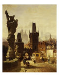 The Towers of the Charles Bridge in Prague, Czechoslovakia, 1870 Giclee Print by Albert Schmid