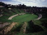 Amphitheatre, 1st century AD Roman, Saintes, Charente, France Photographic Print