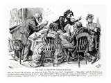Pip Does not Enjoy his Christmas Dinner, Illustration from Great Expectations Giclee Print by Harry Furniss